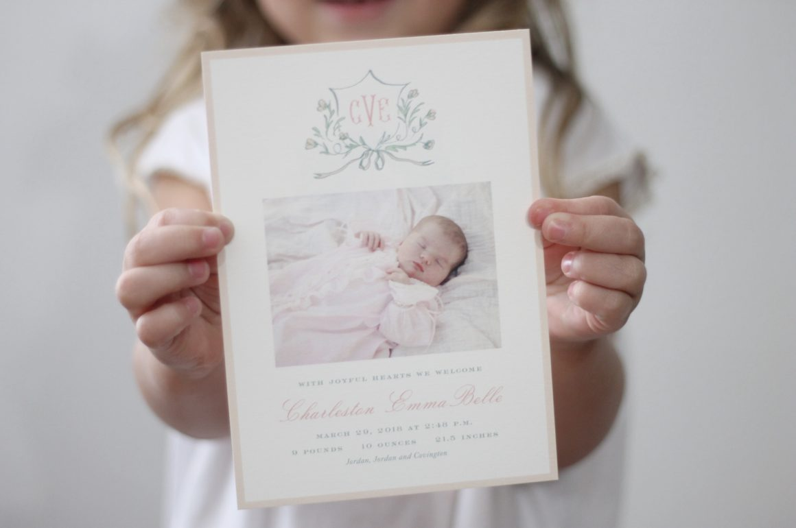 Charleston's Birth Announcements By Dixie Design